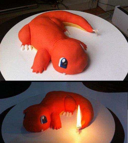 超似!條尾識著火‧小火龍生日蛋糕